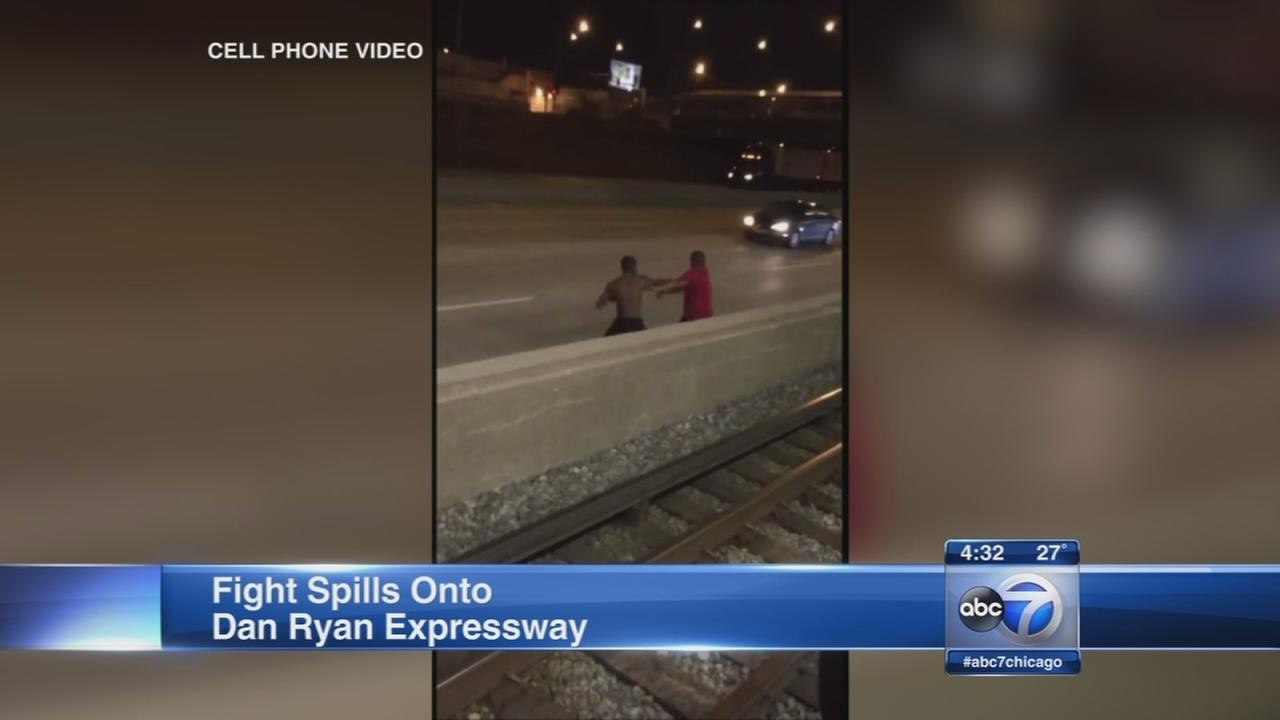 Fight spills onto Dan Ryan