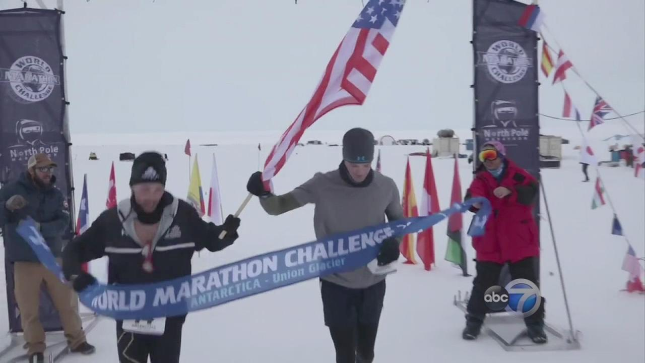 Two Chicagoans run 7 marathons on 7 continents in 7 days