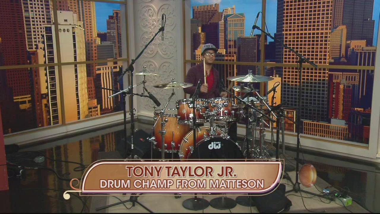 Drumming champion of the word Tony Taylor Jr.