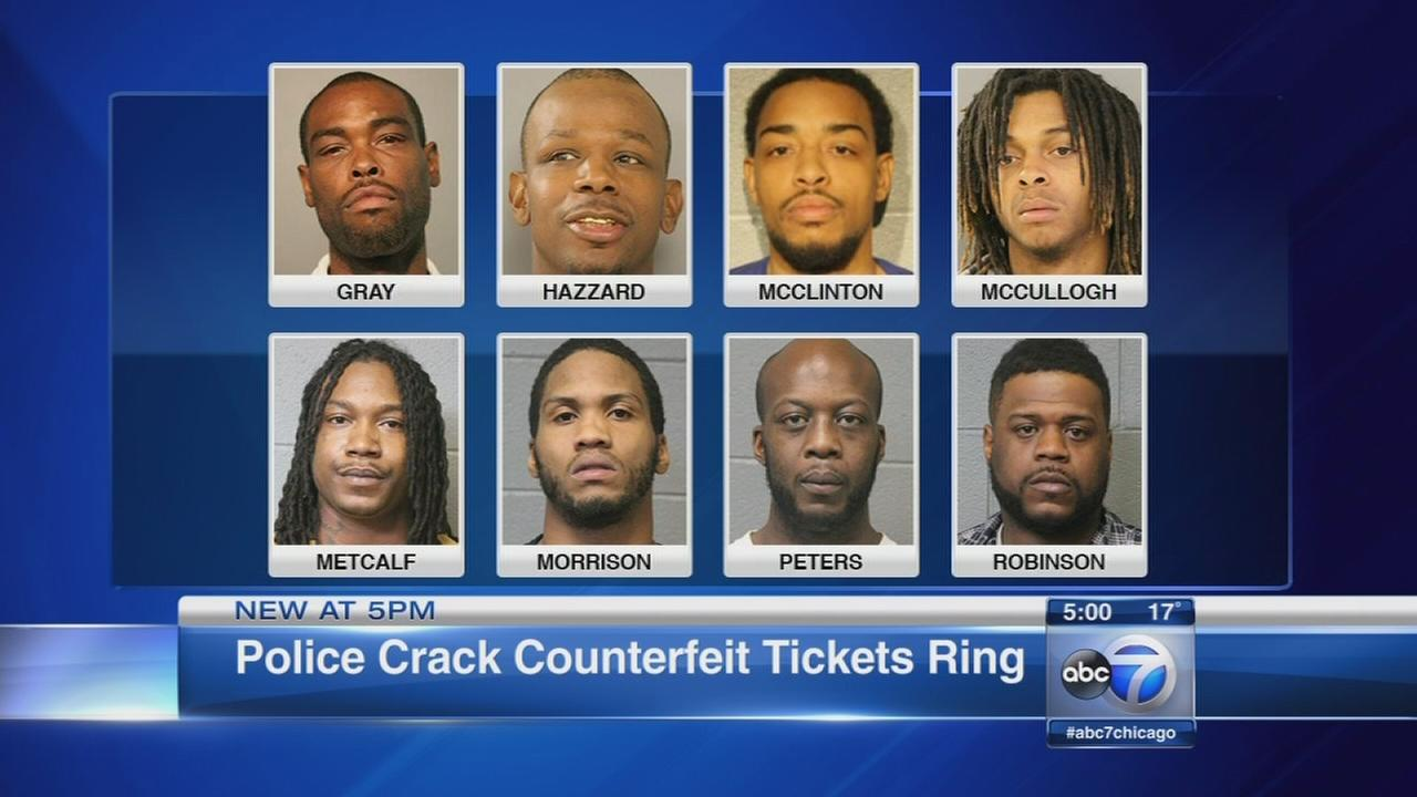 Gang members charged in fake ticket scheme