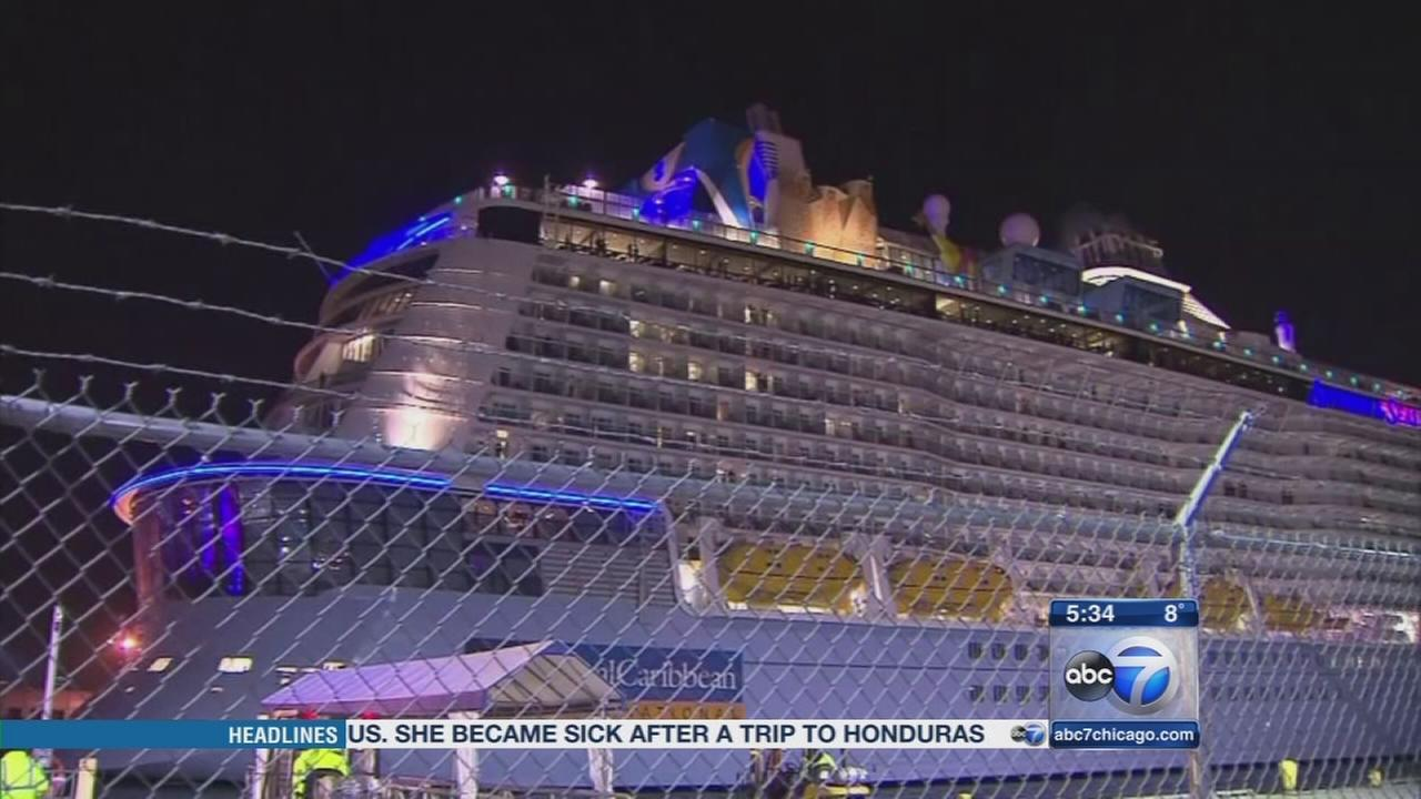 Cruise ship battered by storm returns to port