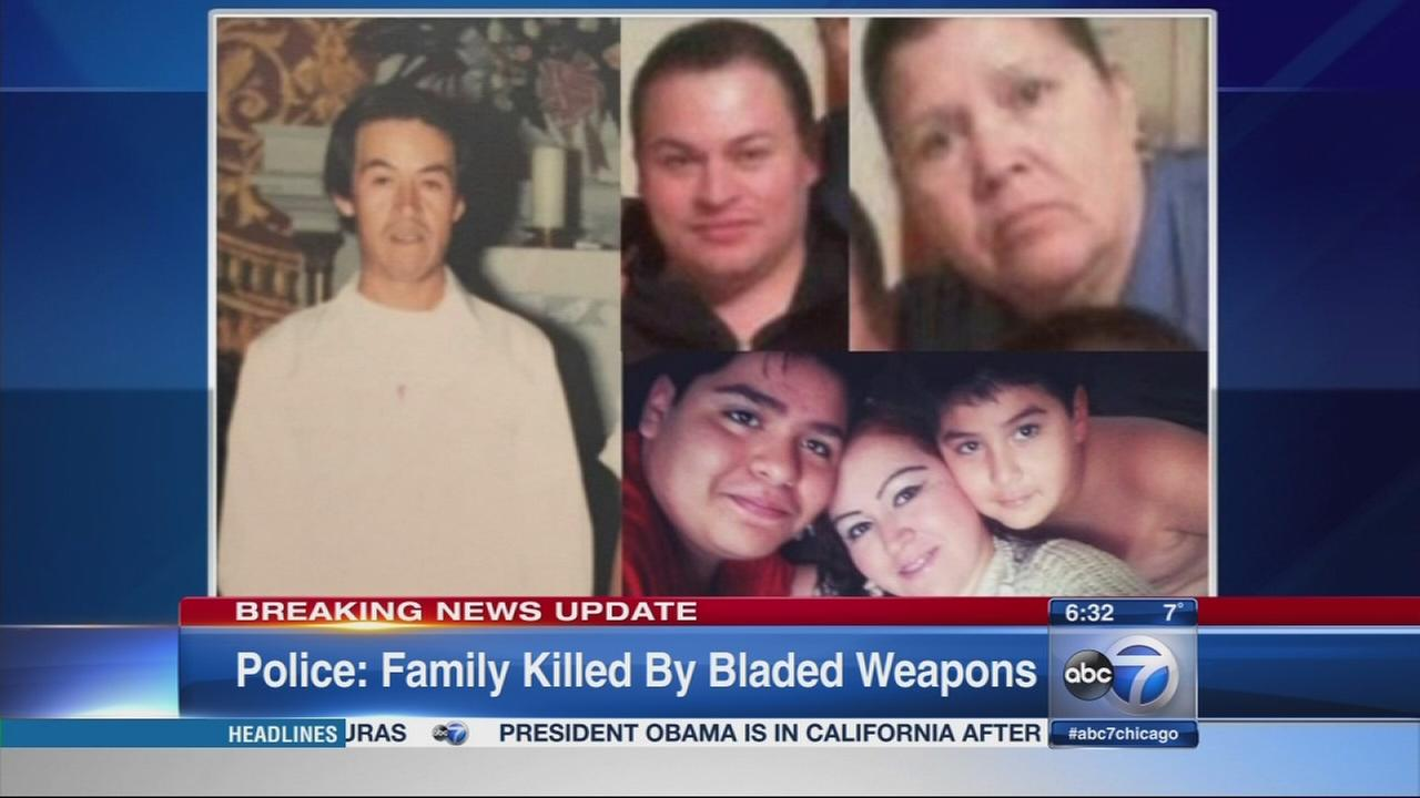 Bladed weapons used to kill Gage Park family, police say