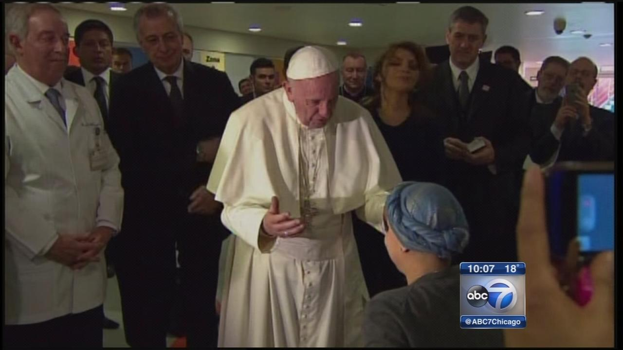 Pope Francis holds mass, meets with patients