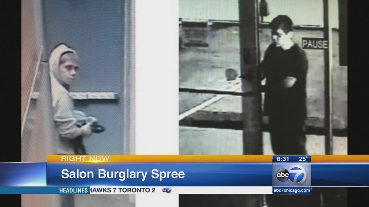 Nearly 90 beauty salons burglarized