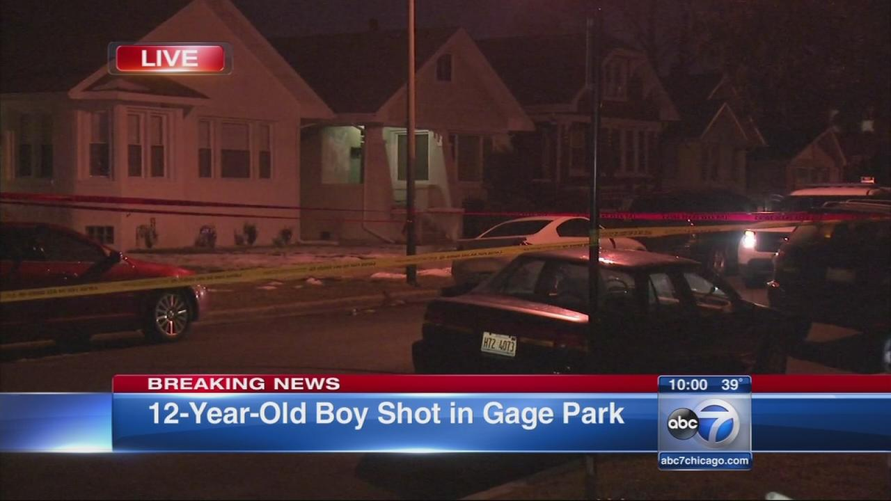 Boy, 12, shot in Gage Park