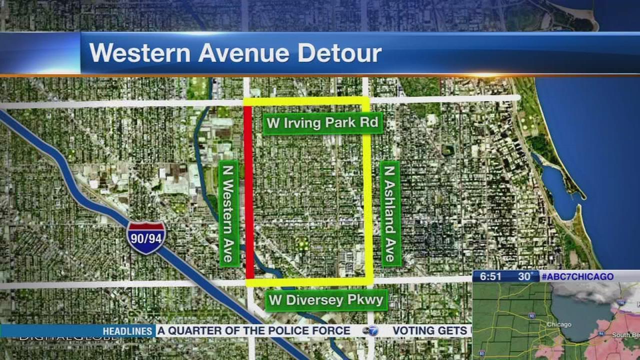 Western Avenue viaduct demolition starts