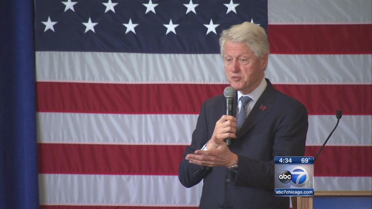 Bill Clinton campaigns in Evanston