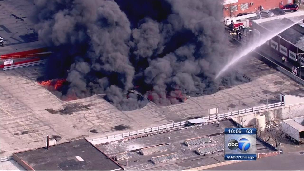 Fire rips through west side flea market