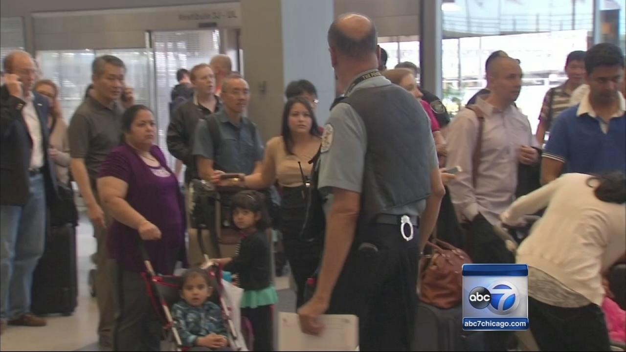 Long lines follow flight cancellations, delays