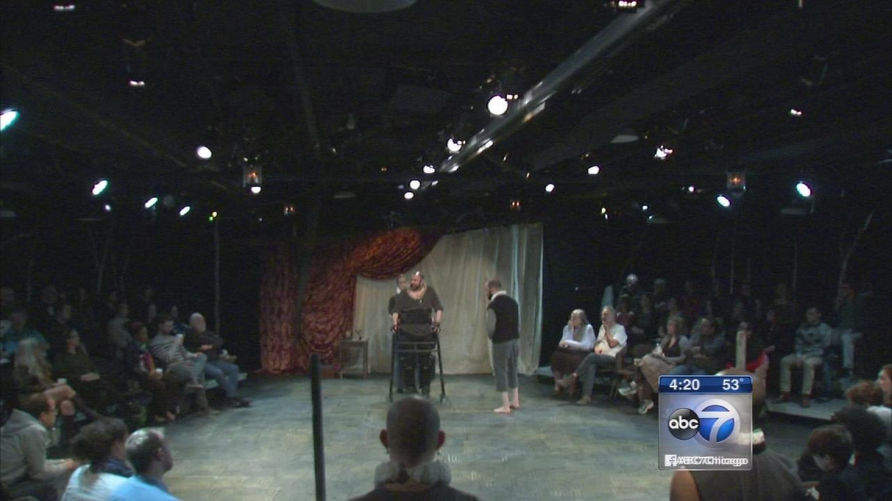 Disabled actor performs Shakespeare
