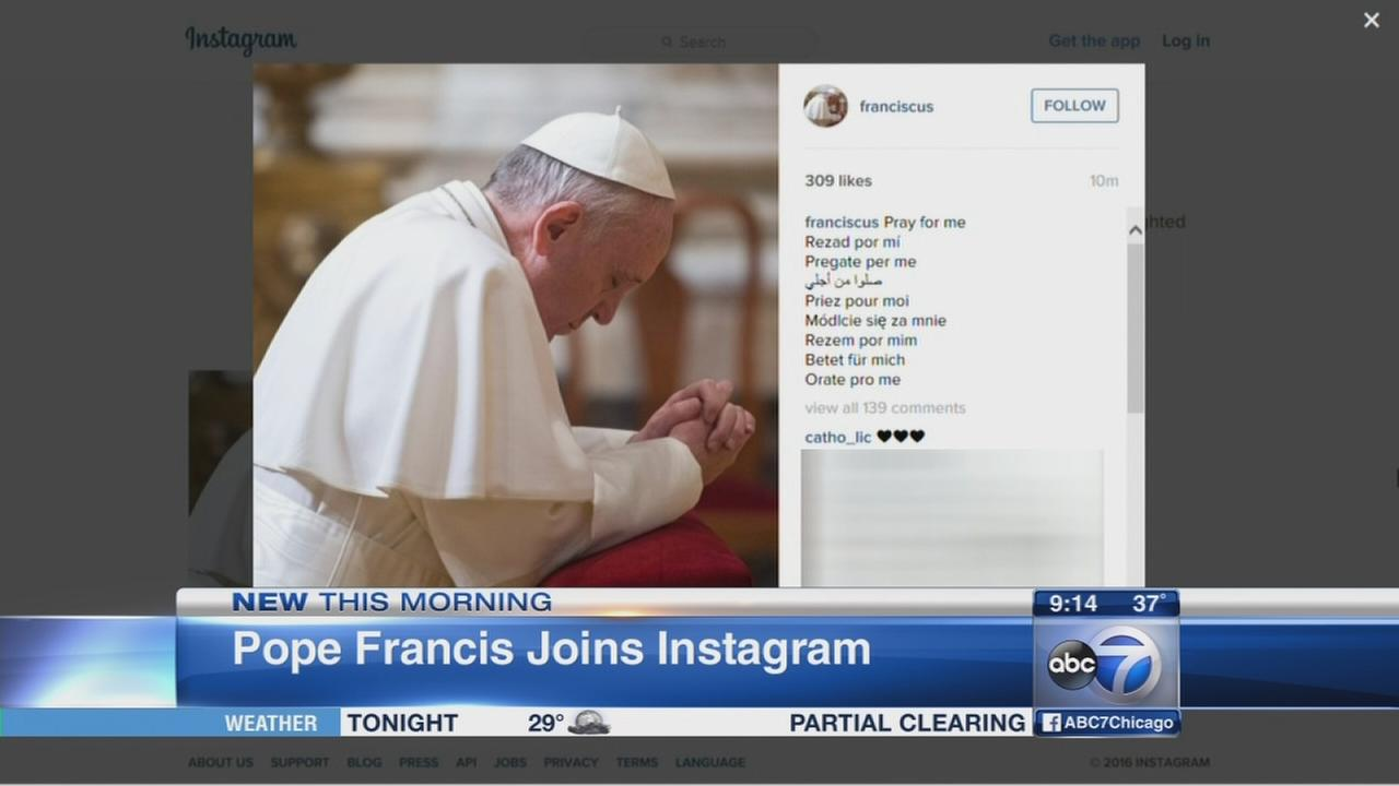 Pope Francis on Instagram