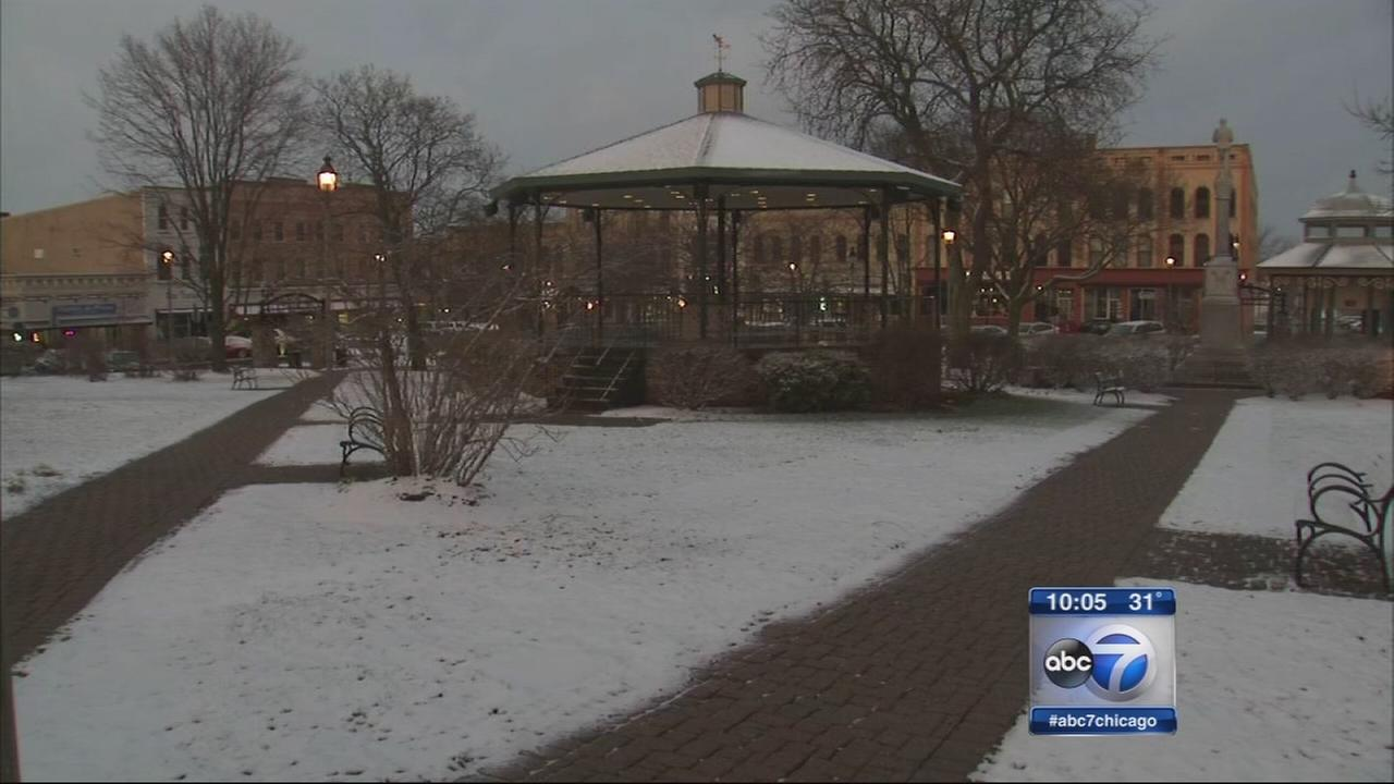 Spring snow strikes suburbs