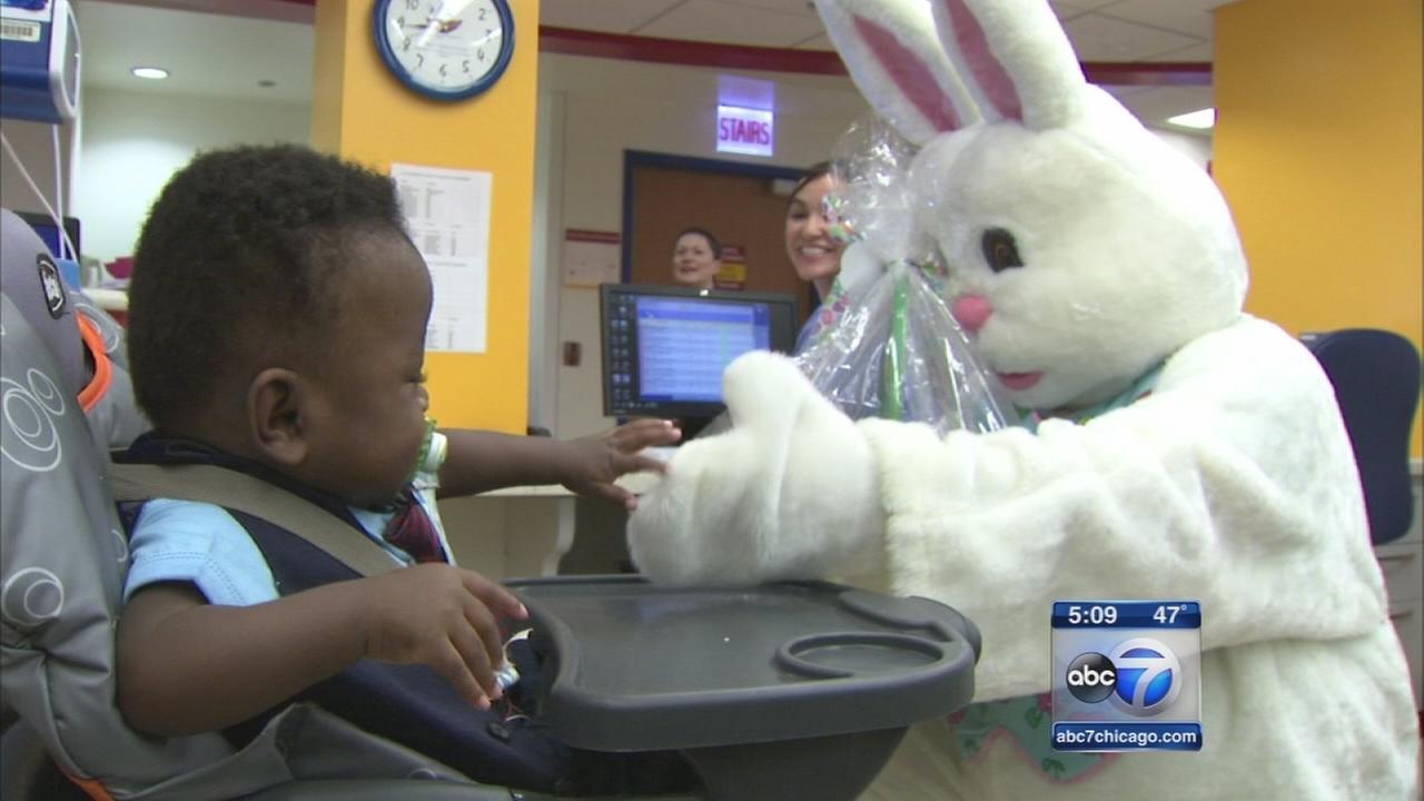 Easter Bunny lifts spirits at La Rabida Childrens Hospital