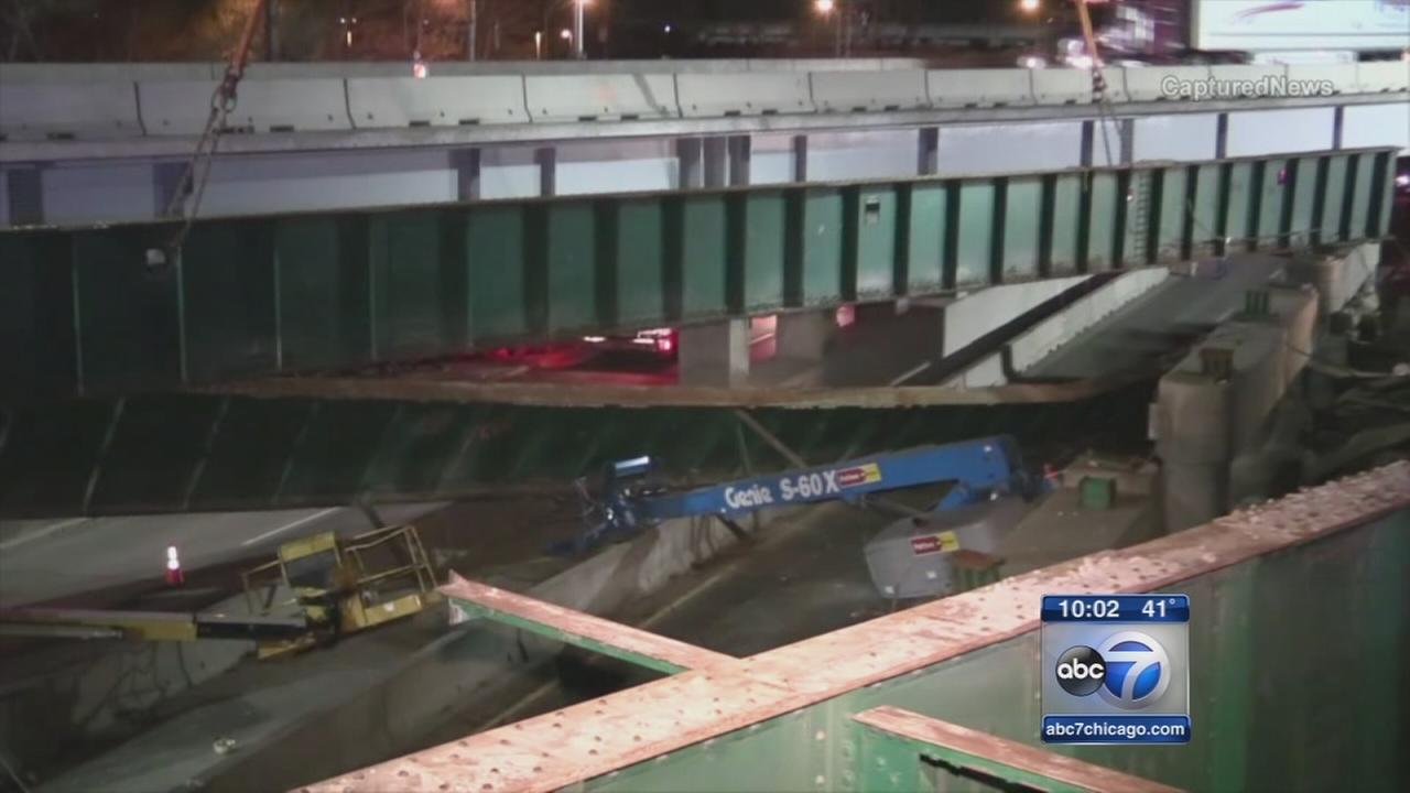 Construction worker killed when 45-ton beam falls along I-90