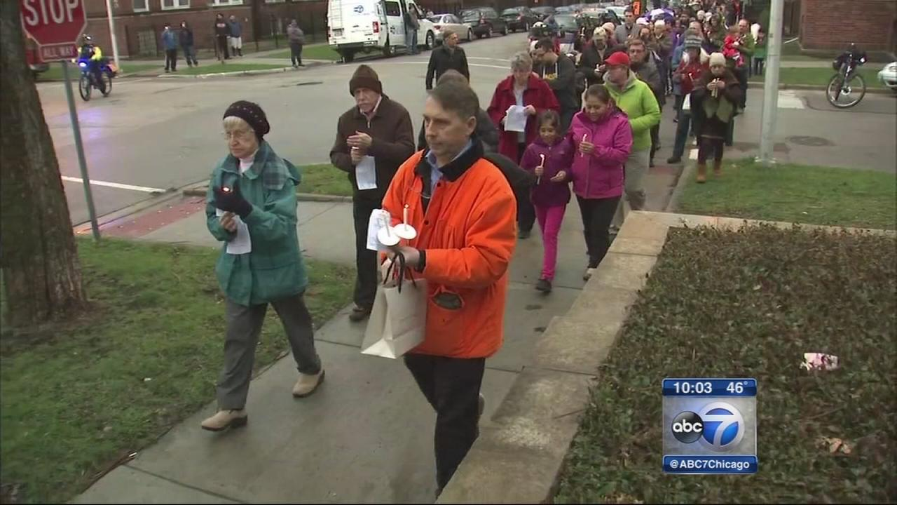 Nuns march for peace after man fatally shot