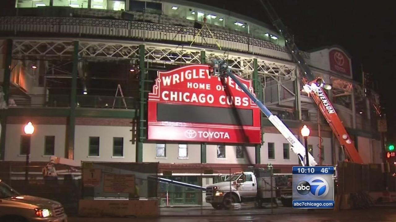 Wrigley Field marquee gets makeover