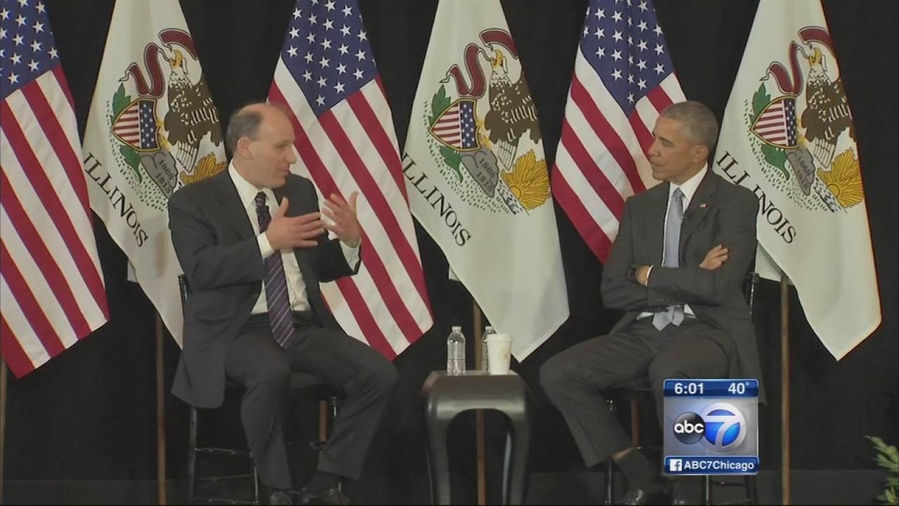 Obama speaks at U of C