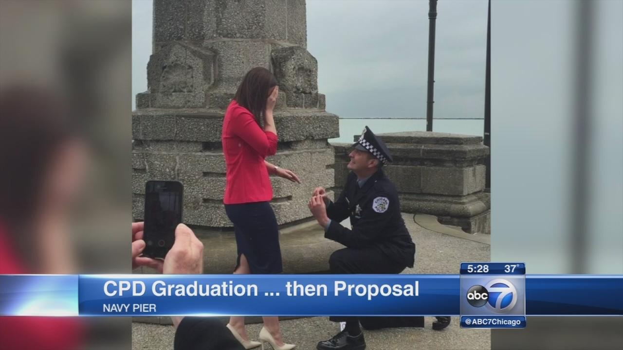 Couple gets engaged at CPD graduation
