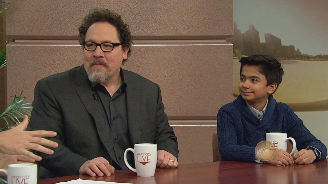 Jon Favreau and Neel Sethi