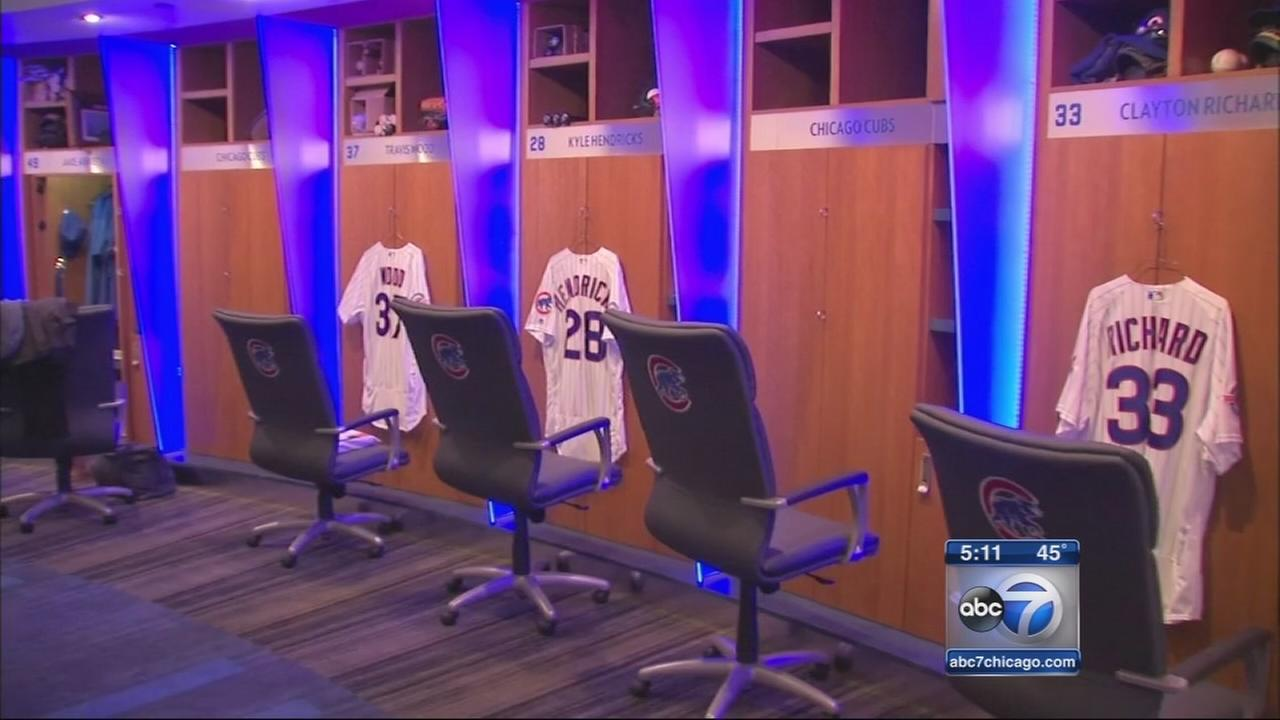 Cubs show off new clubhouse at Wrigley Field