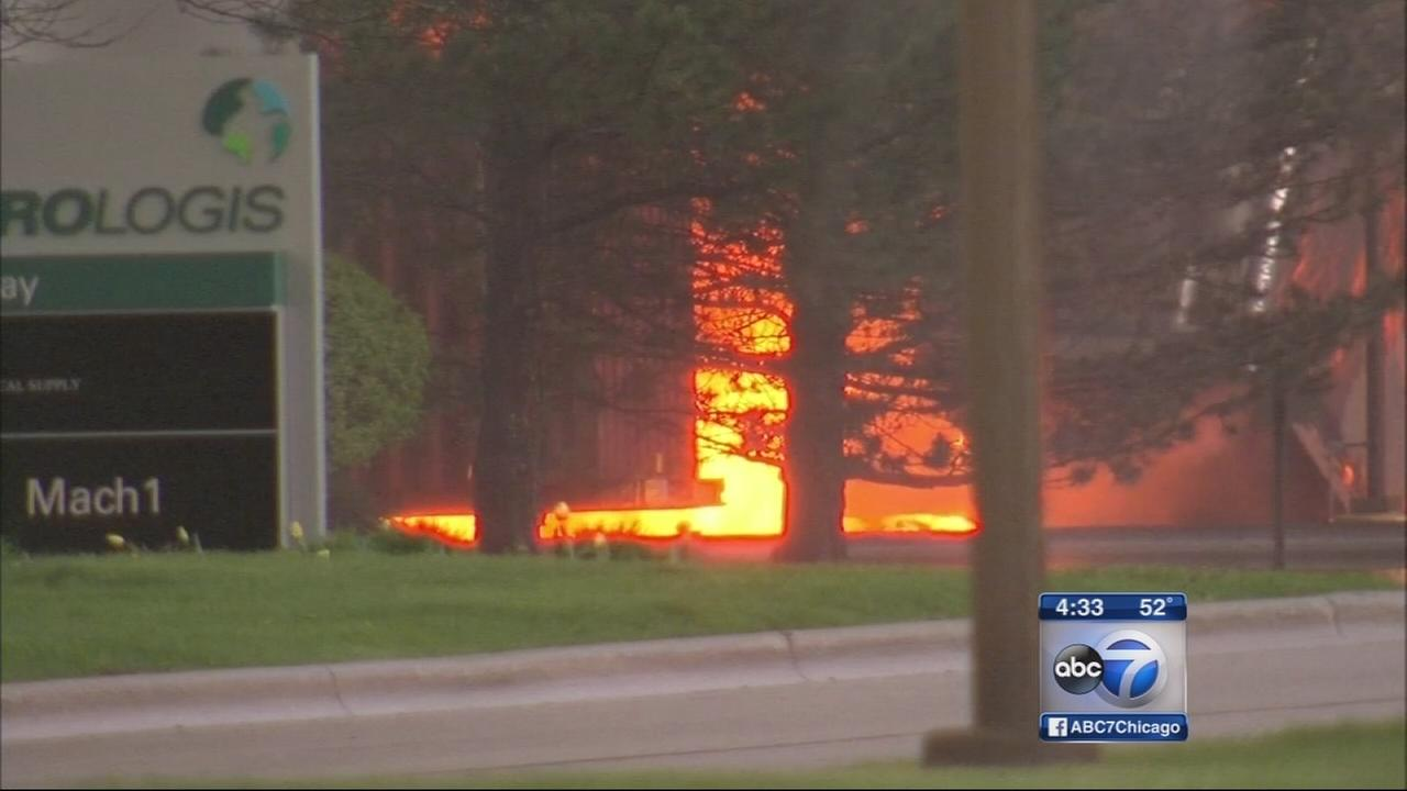 Woodridge warehouse destroyed by fire
