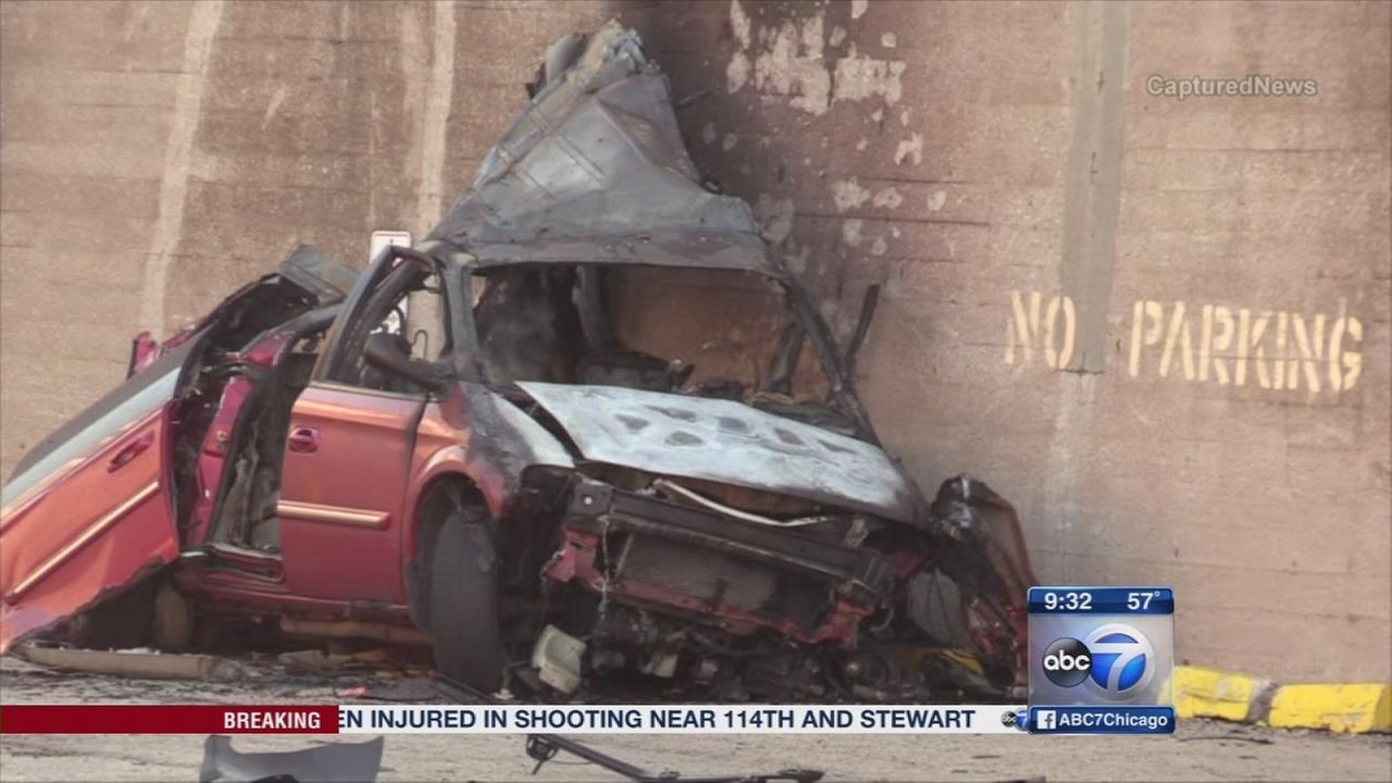 Three injured in fiery crash