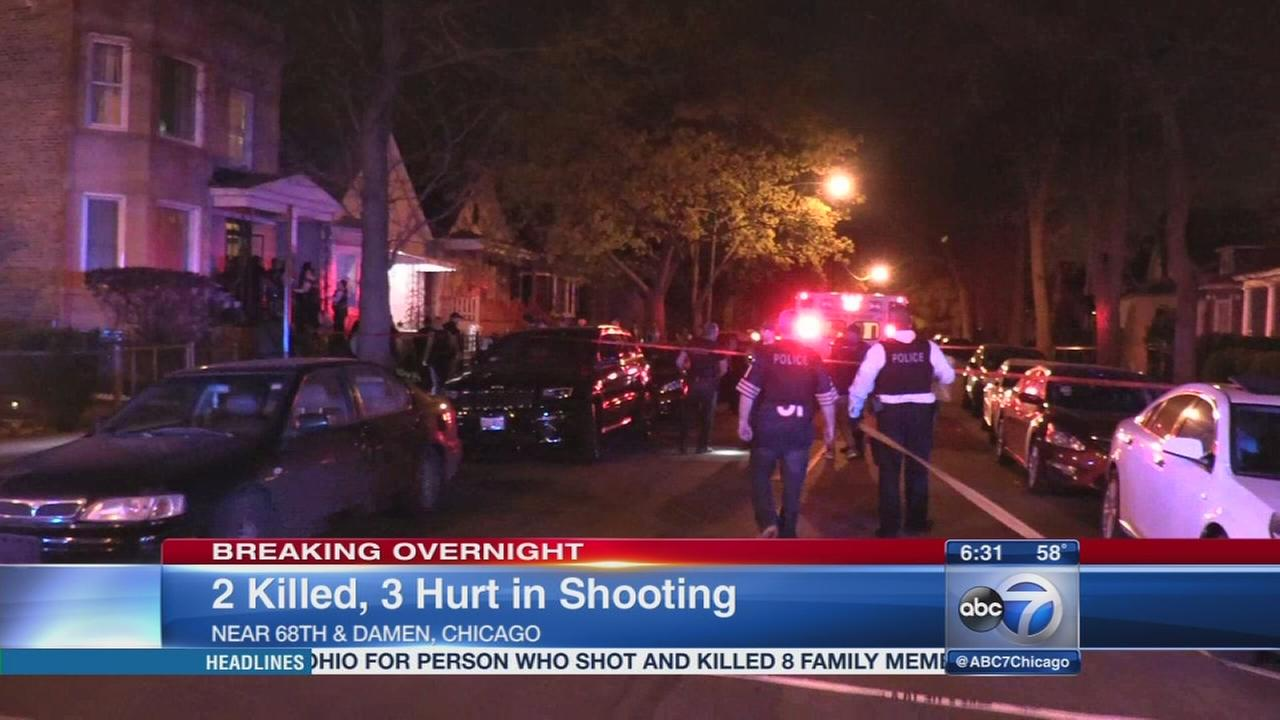 2 dead, 3 injured in South Side shooting