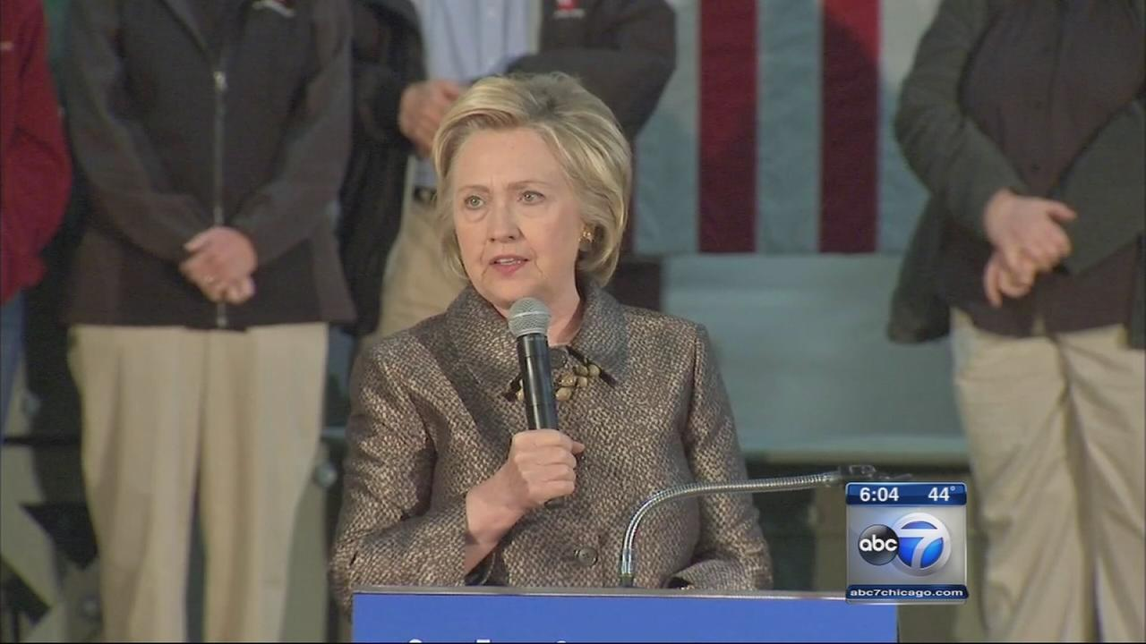 Clinton campaigns in Indiana