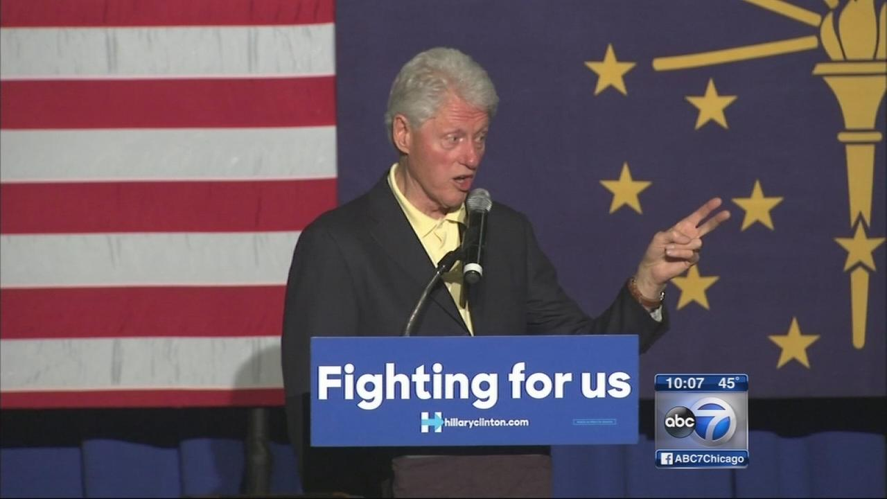 Bill Clinton stumps in Gary, Ind.