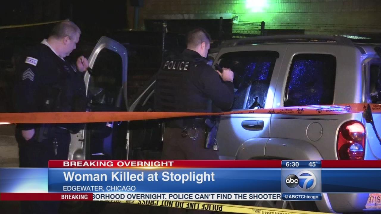 Woman fatally shot at stoplight