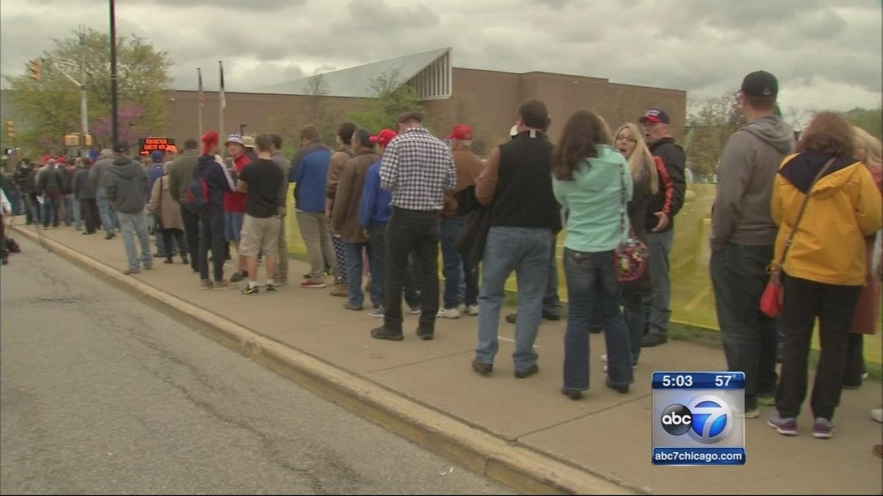Trump supporters, protesters gather in South Bend