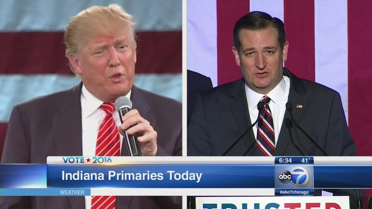 Indiana primary Cruz tries to top Trump
