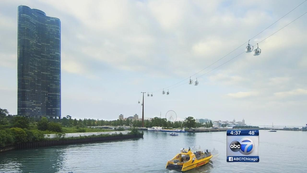 Pair proposes high flying gondolas over Chicago River