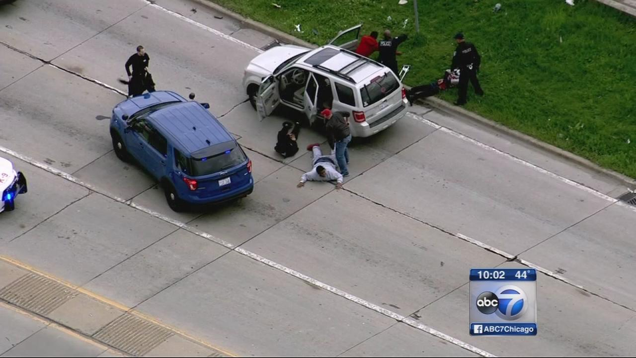 Police pursuit on Dan Ryan, I-57 ends in 4 arrests