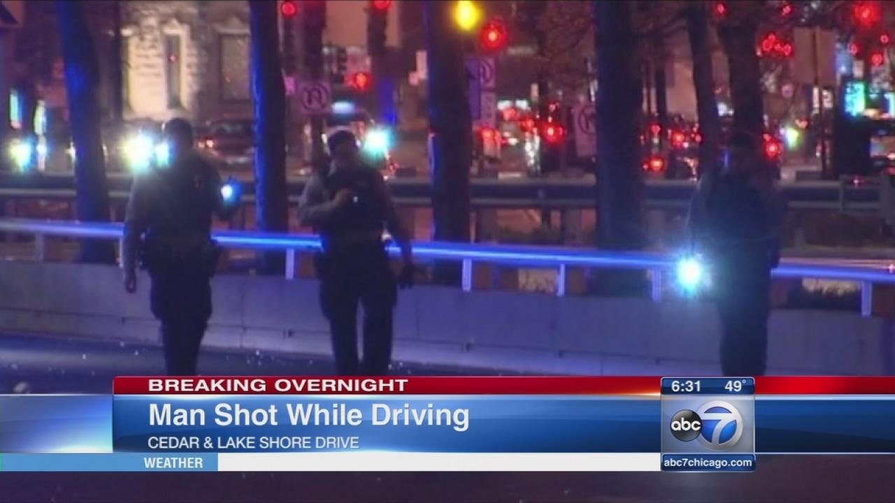 Man shot on Lake Shore Drive