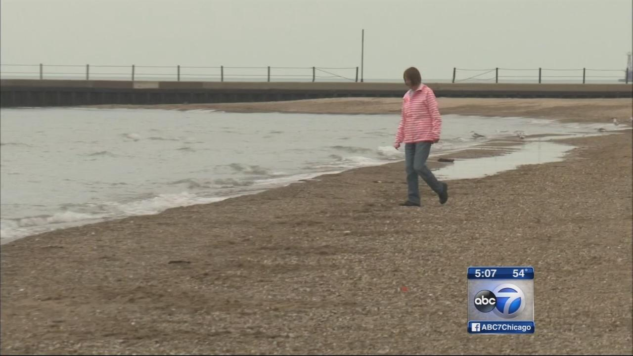 Lake Michigan levels up, shrink beaches
