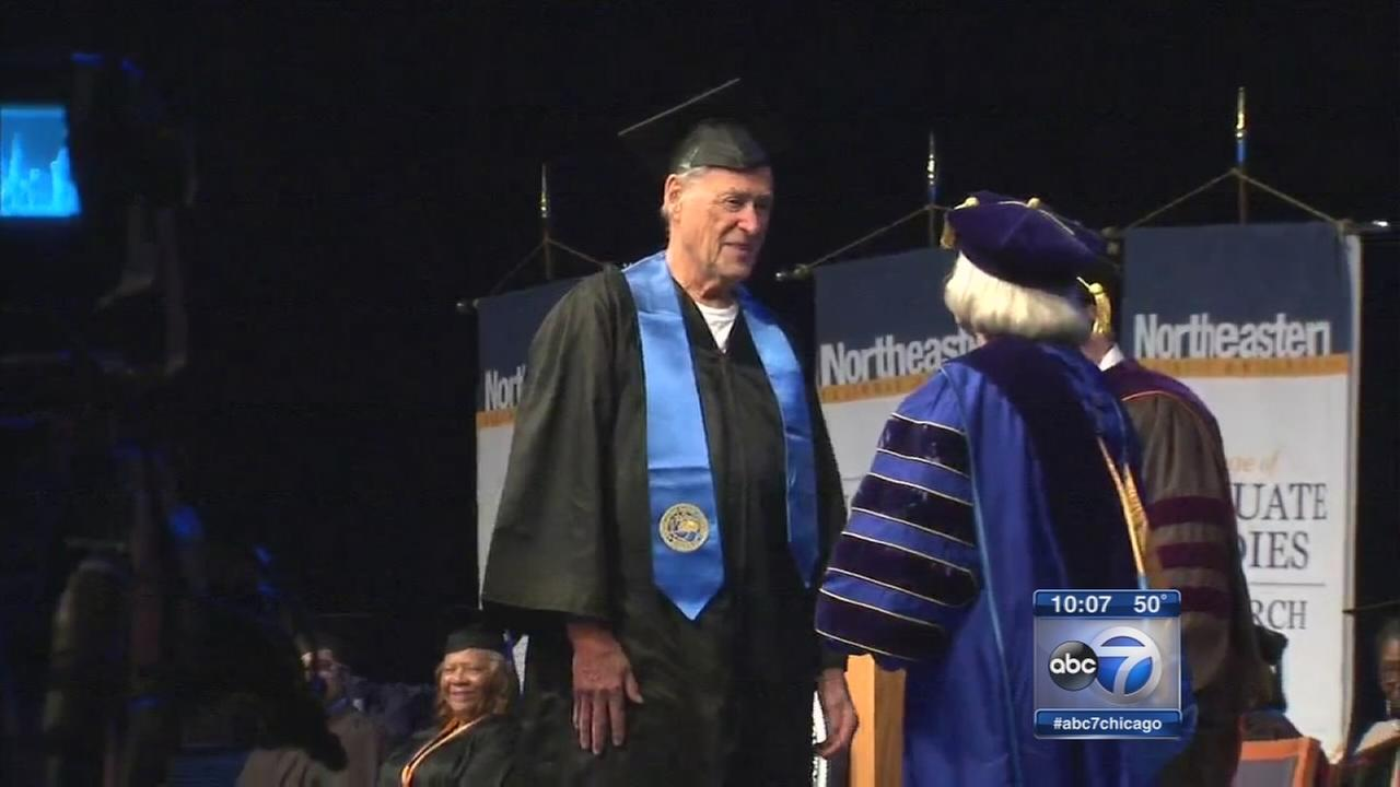 84-year-old graduates from college