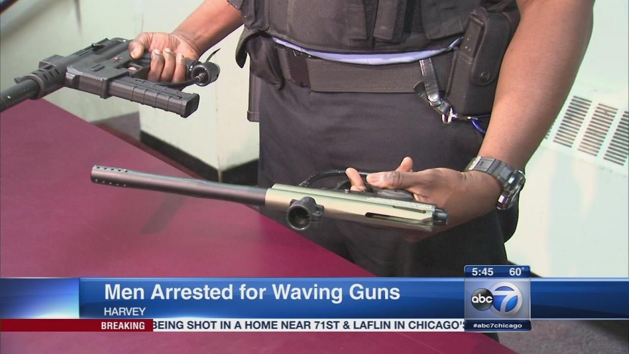5 men arrested for waving fake guns near school