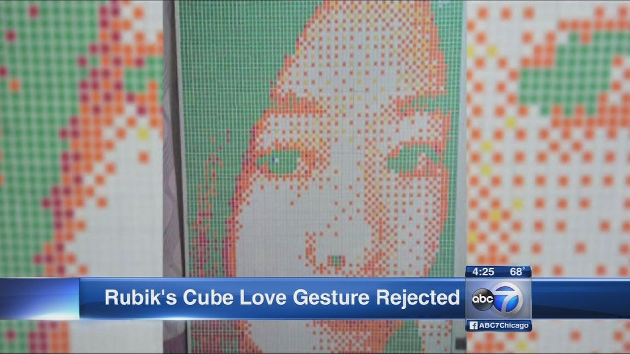Romantic Rubiks Cube gesture rejected