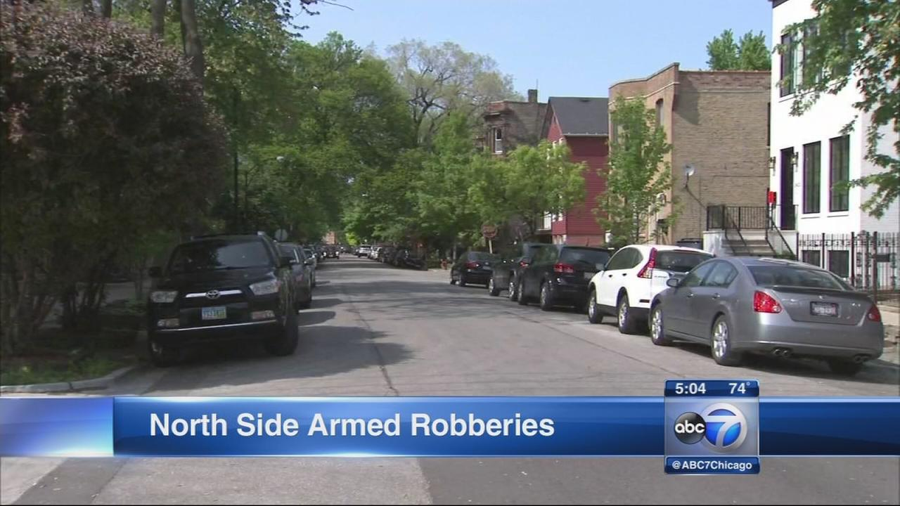 Robbers hit North Side neighborhoods