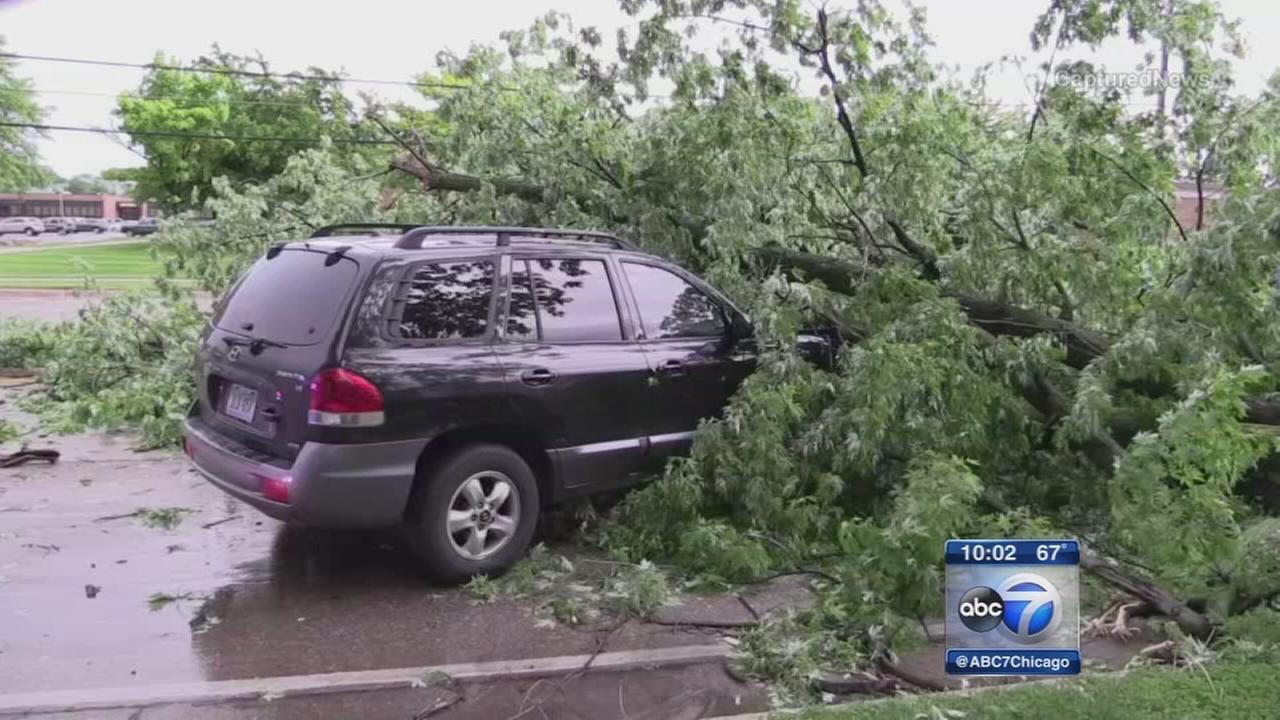 Spring storms cause damage