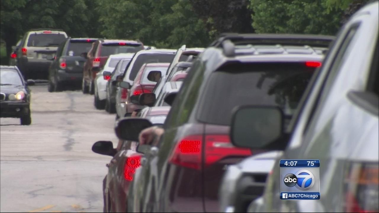 Lines outside Naperville emissions facility snarl traffic