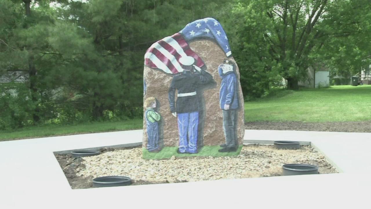 Iowa Freedom Rock vandalized