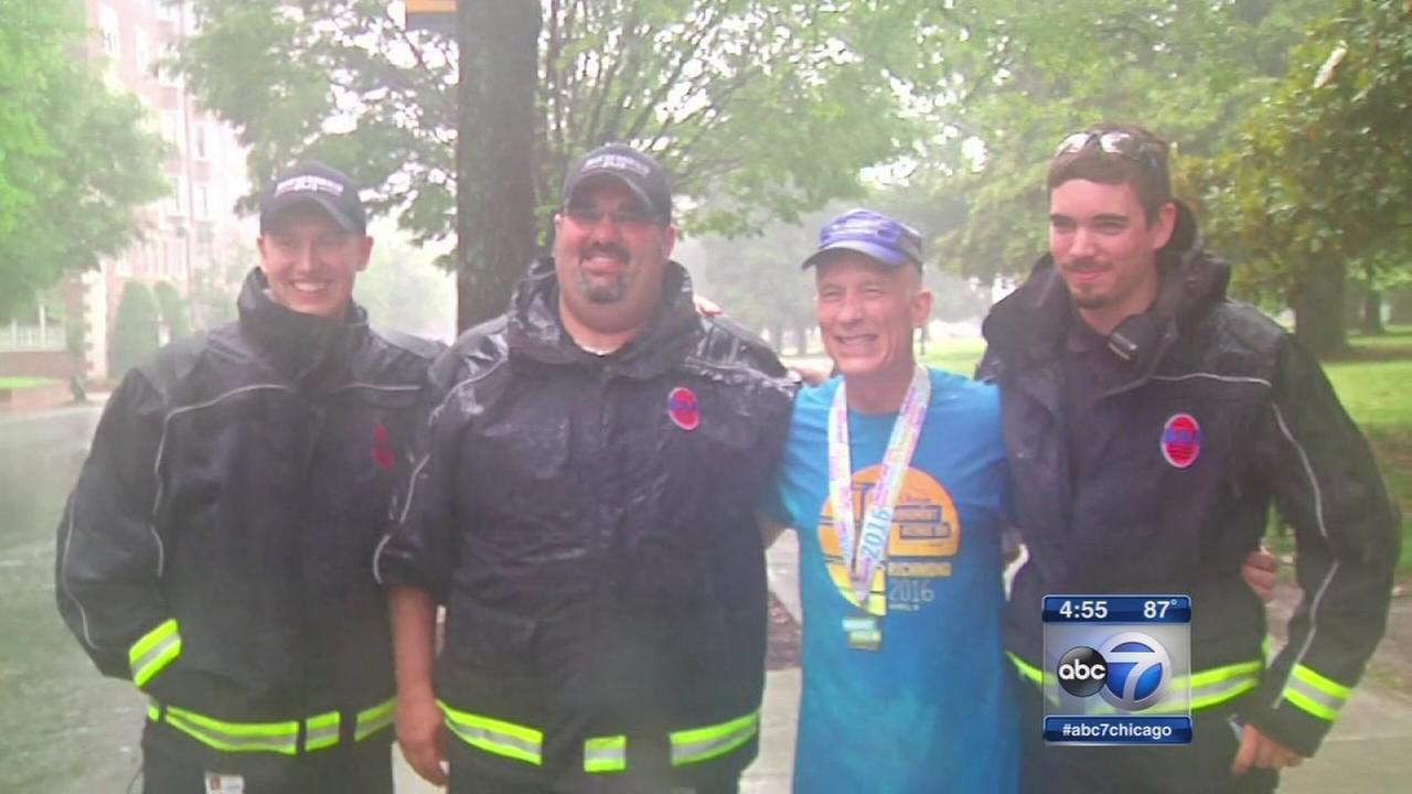 Virginia man finishes 10k race after heart attack
