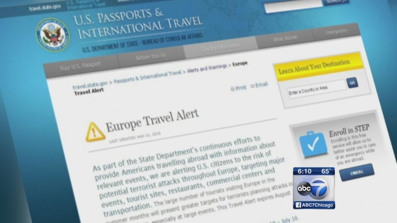 state department issues alert for travel to europe