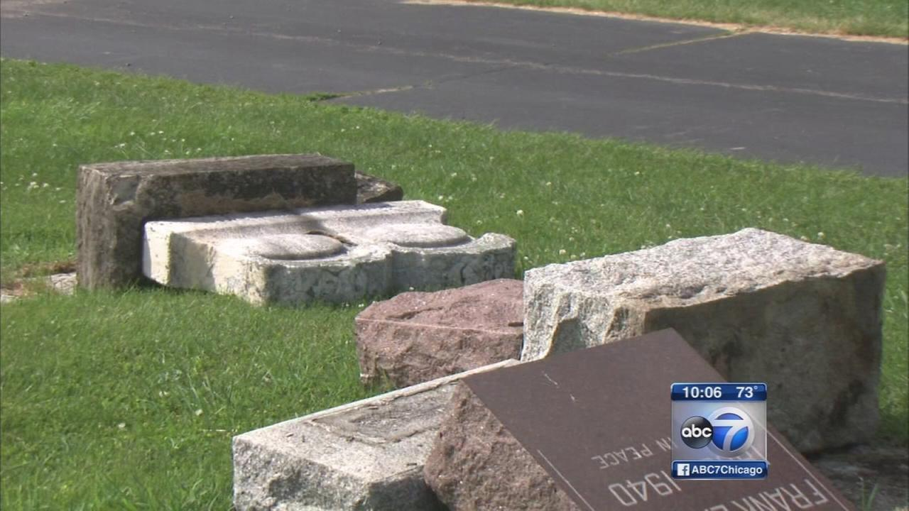 79 headstones vandalized in Lockport Cemetery