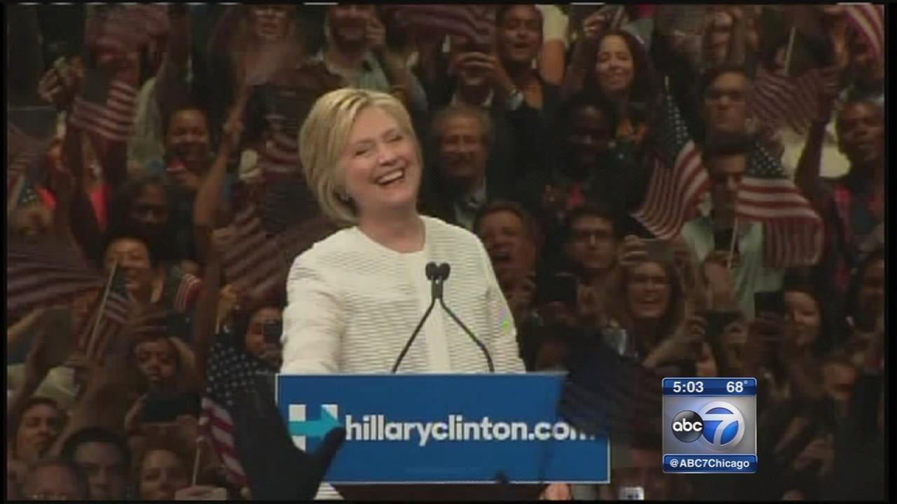Hillary Clinton makes history in clinching nomination