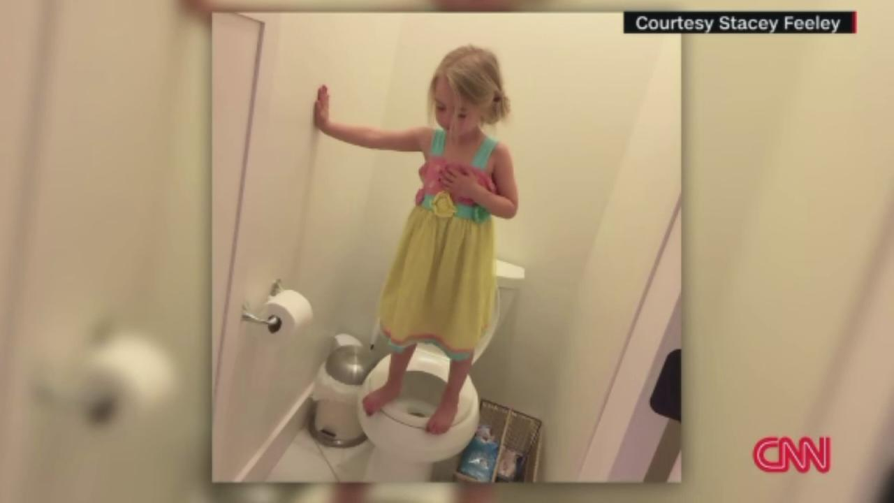 Photo of preschooler practicing for lockdown drill goes viral