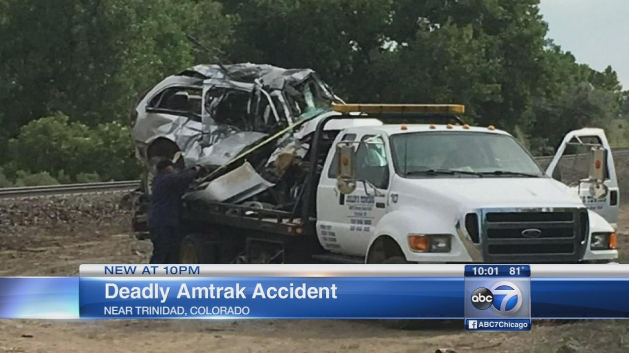 Amtrak train hits minivan in Colorado