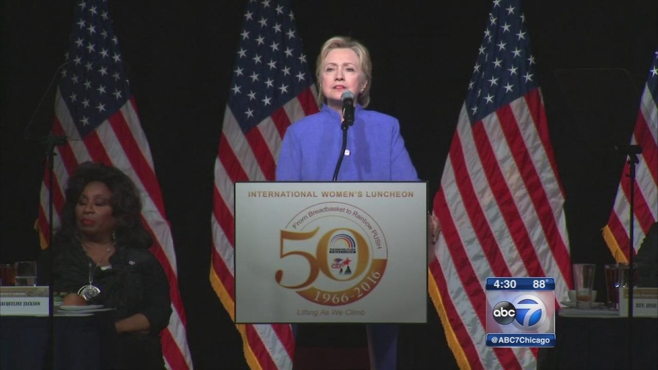 Hillary Clinton speaks at Rainbow PUSH meeting